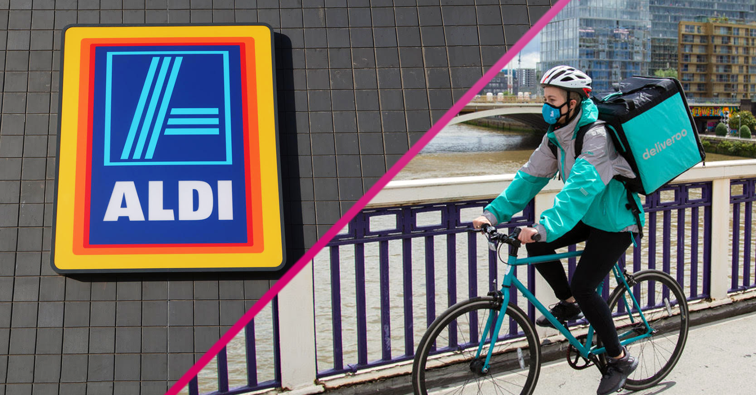 Aldi teams up with Deliveroo to launch same-day grocery home delivery service