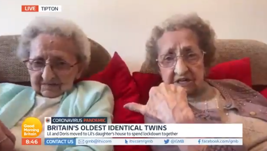 Britain's oldest twins on GMB