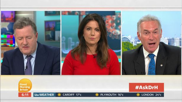Piers Morgan, Susanna Reid and Dr Hilary GMB