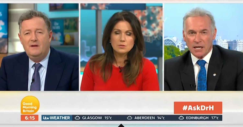 Piers Morgan and Dr Hilary Jones clash over coronavirus crisis again on GMB