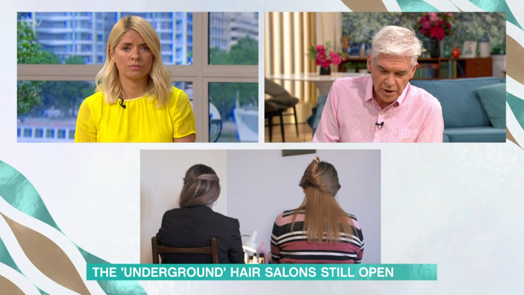 Hairdresser on This morning