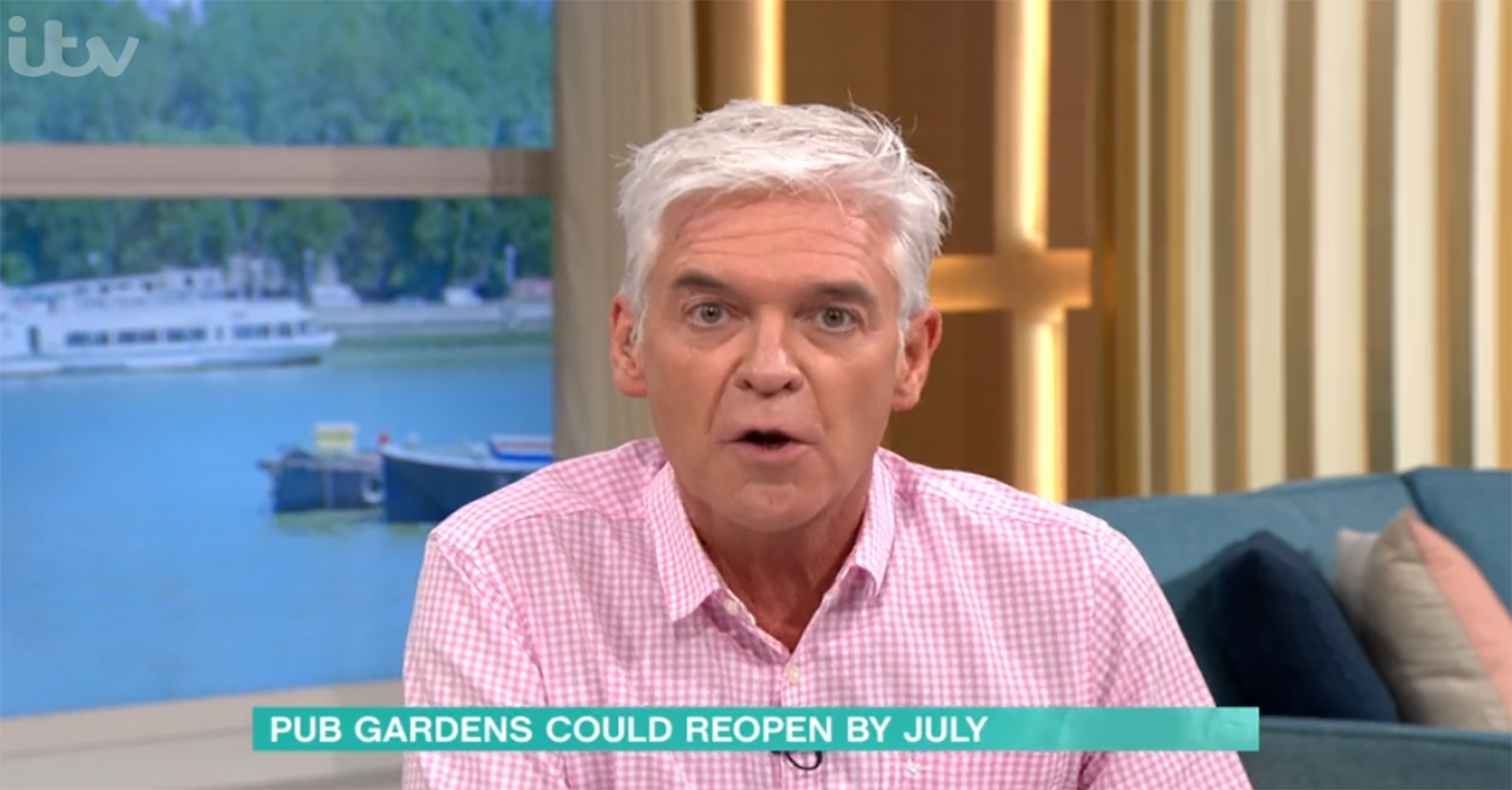 Phillip Schofield divides This Morning viewers as he calls for pubs to reopen
