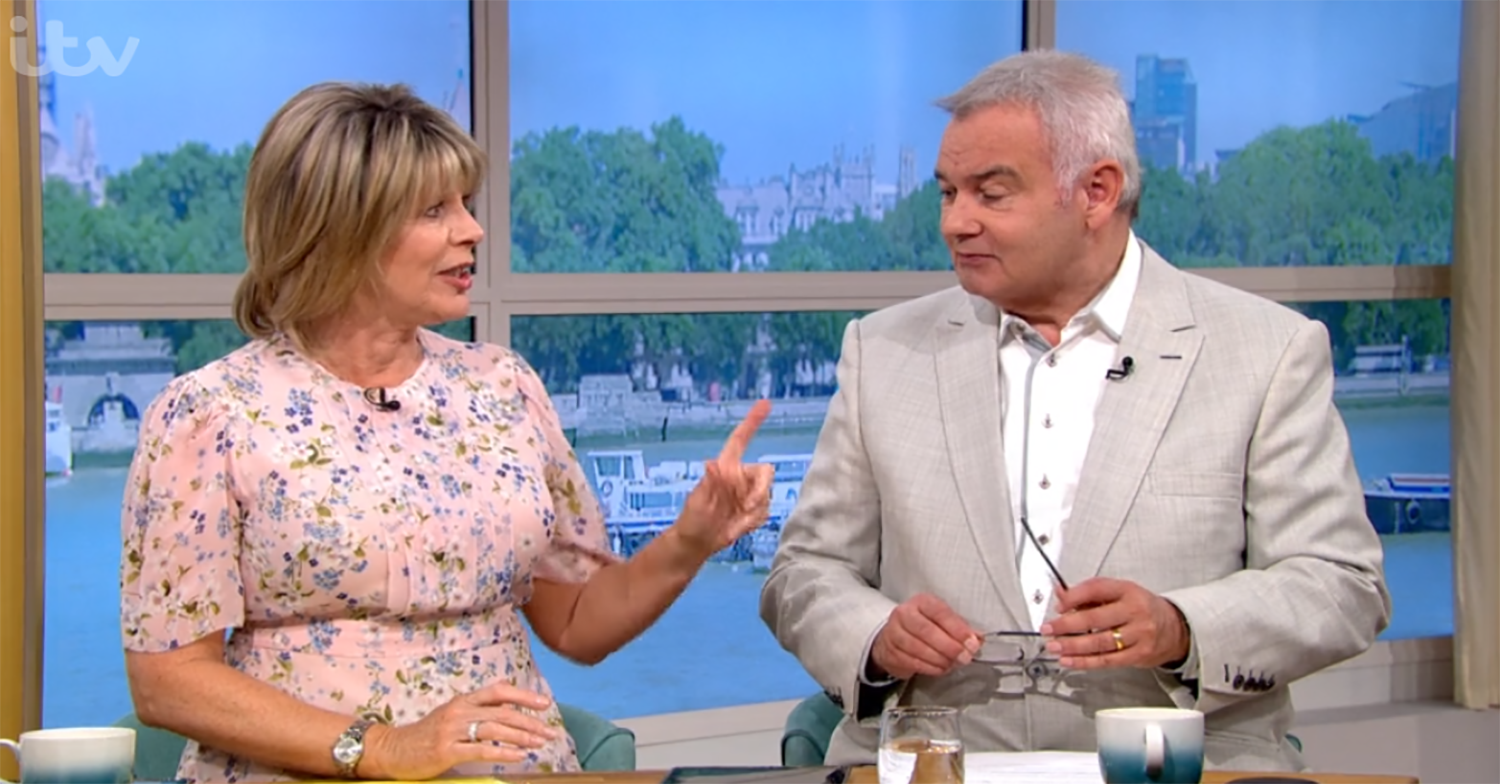Ruth Langsford snaps at Eamonn Holmes for 'mansplaining' on This Morning