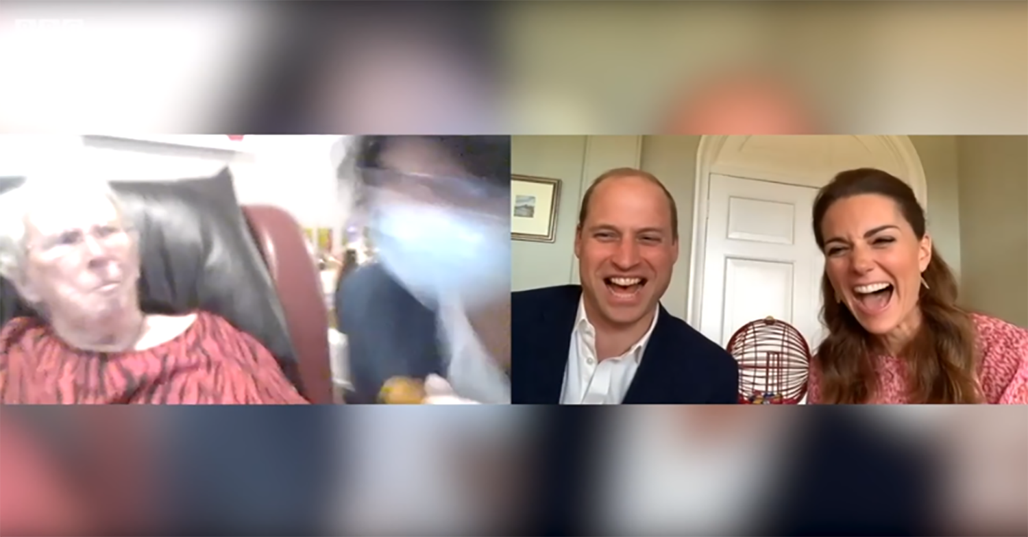 William and Kate in giggles over care home resident's cheeky remark about their bingo lingo