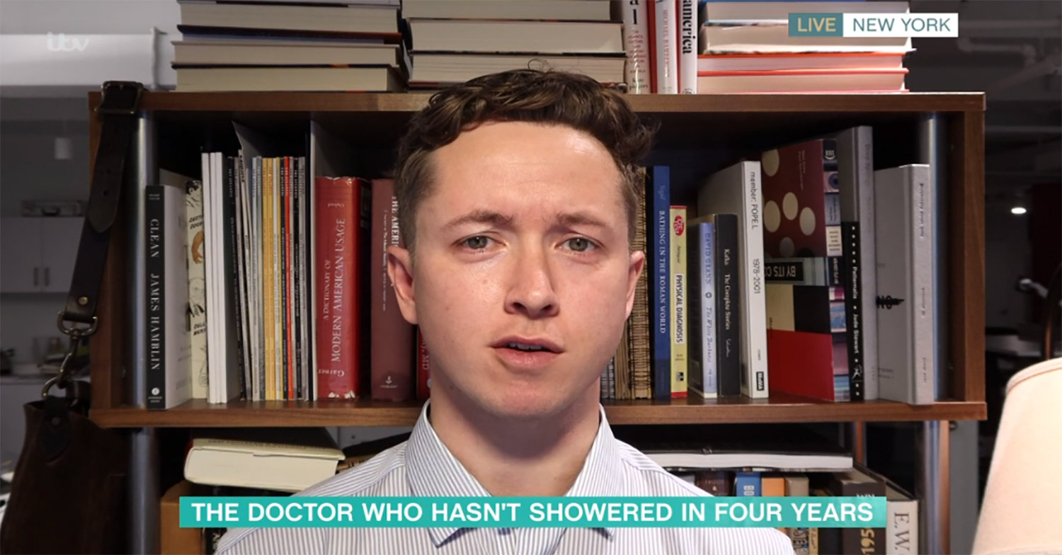 This Morning viewers grossed out by doctor who hasn't showered with soap in four years