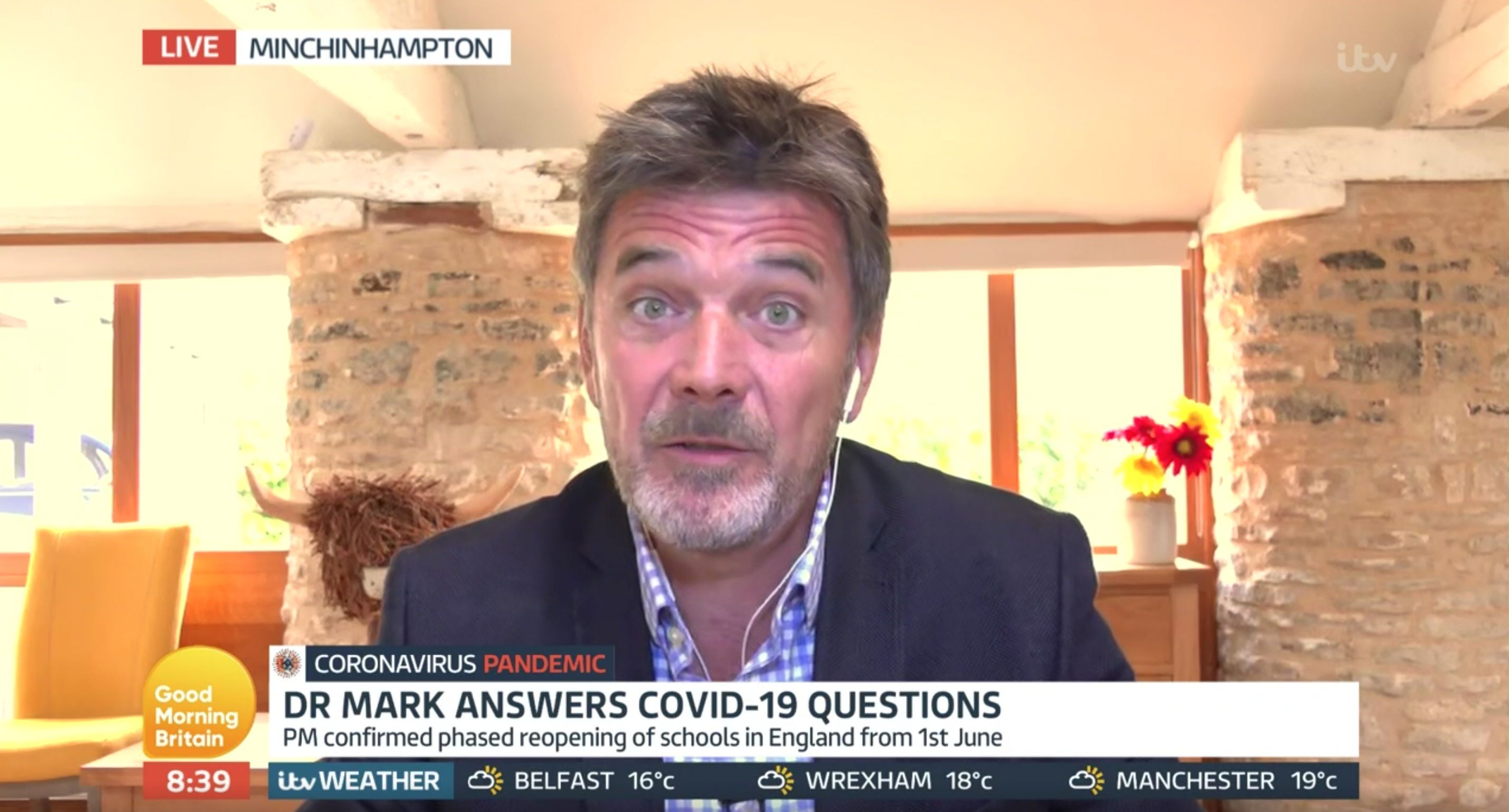 Who is Dr Mark Porter? GP replacement for Dr Hilary Jones on Good Morning Britain