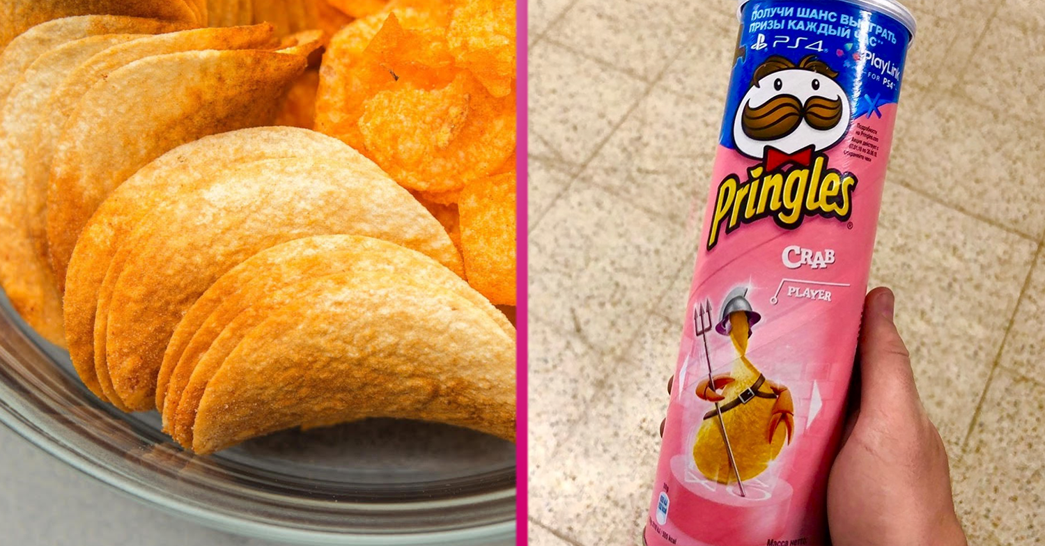 Shoppers divided as 'weird' crab-flavoured Pringles are spotted in Home Bargains