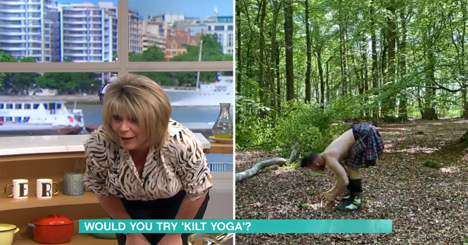 Ruth Langsford fears she's 'done her back in' after yoga session on This Morning