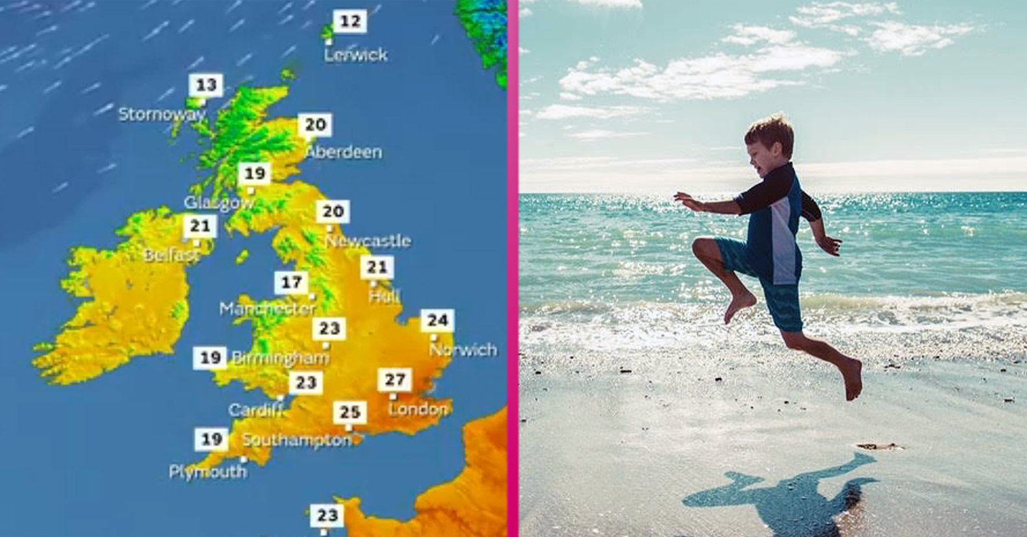 Brits set for half-term heatwave as scorching temperatures are predicted all week