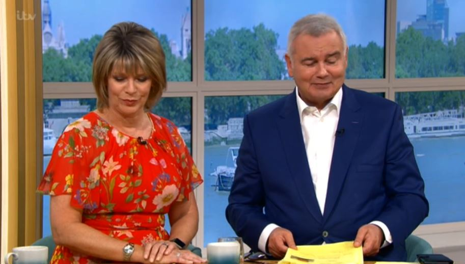 Eamonn Holmes and Ruth Langsford on This Morning