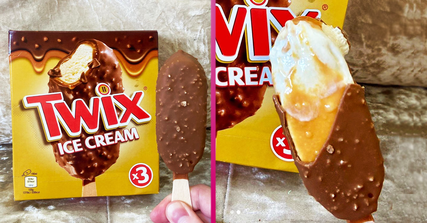 Twix launches new ice cream sticks and they're smothered in caramel with biscuit pieces in the chocolate shell
