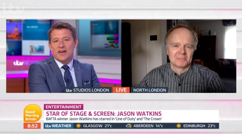 Ben Shephard and Jason Watkins on Good Morning Britain