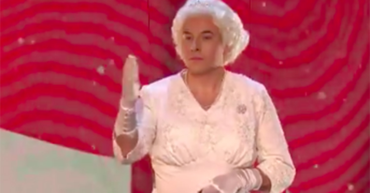 David Walliams has fans in hysterics as he makes his entrance as The Queen in Britain's Got Talent