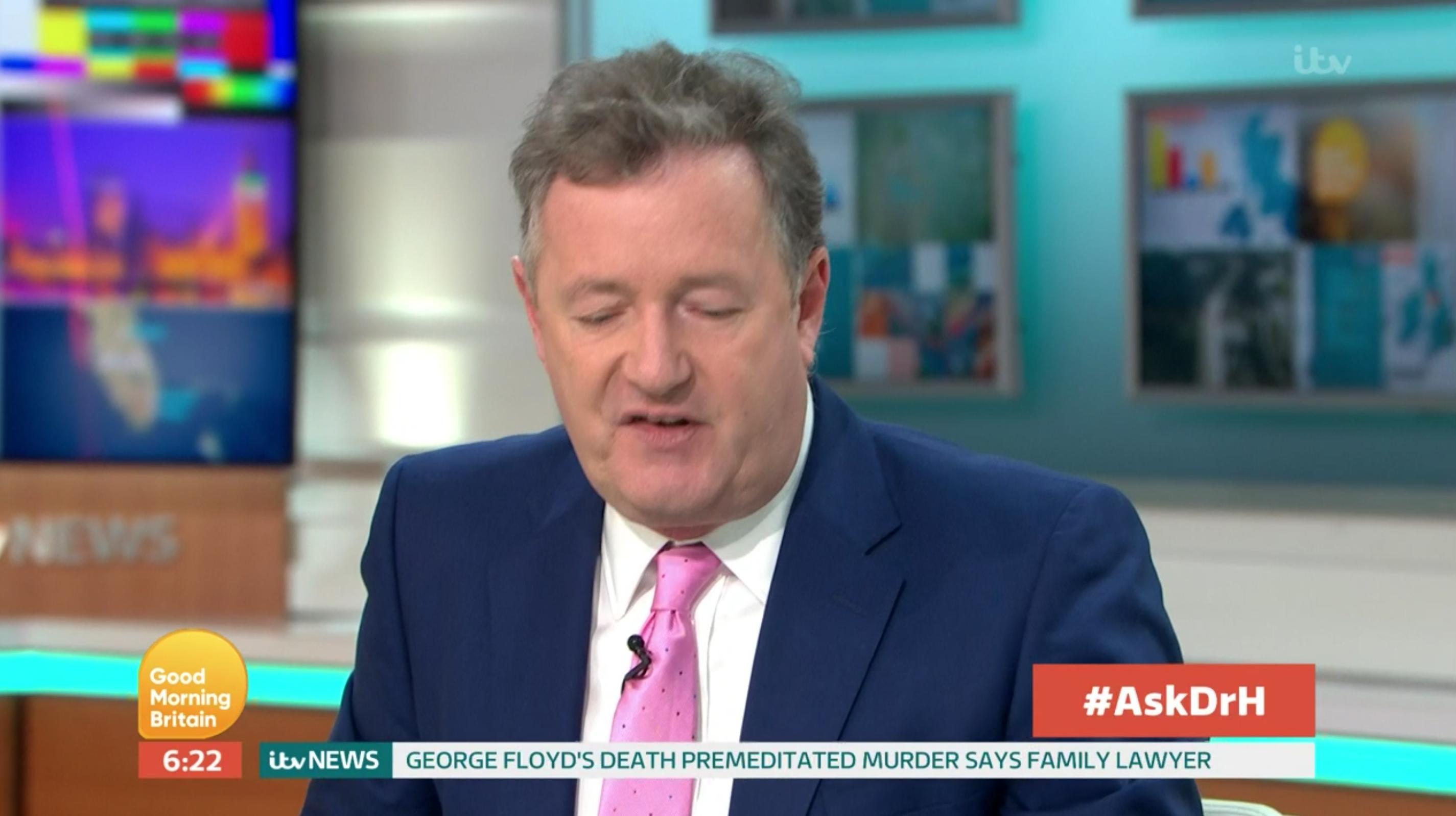 Piers Morgan Good Morning Britain return