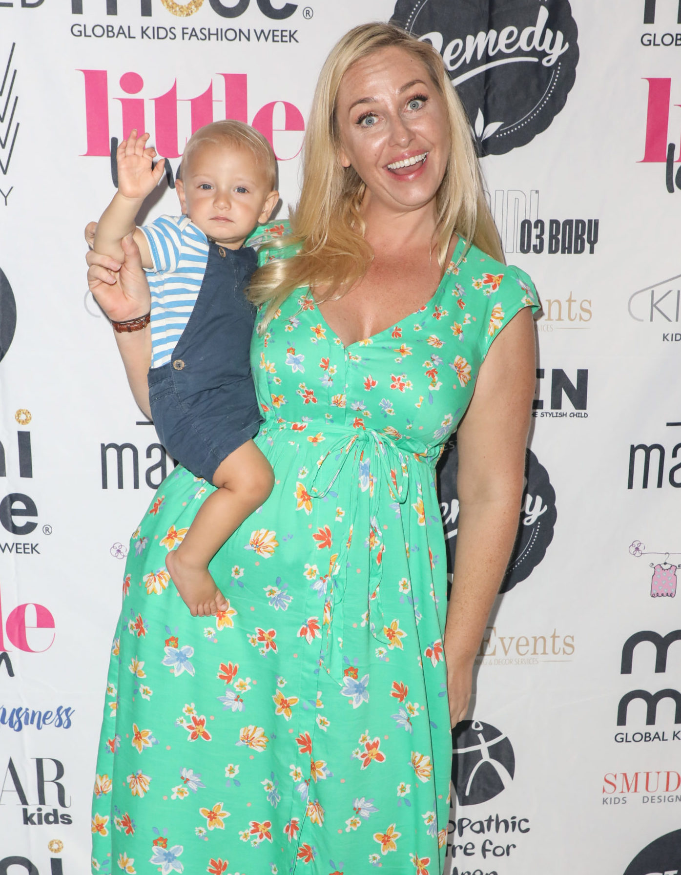 Josie Gibson and son