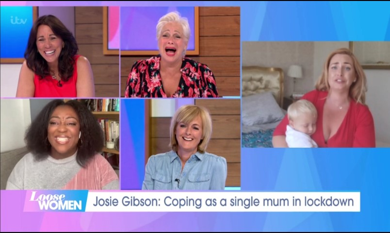 Josie Gibson and Loose Women panel