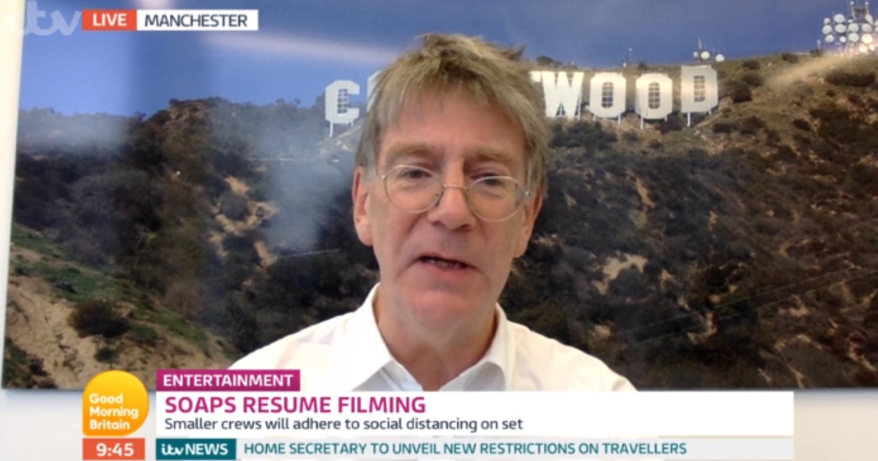 Lorraine viewers shocked as Emmerdale boss John Whiston swears on live TV