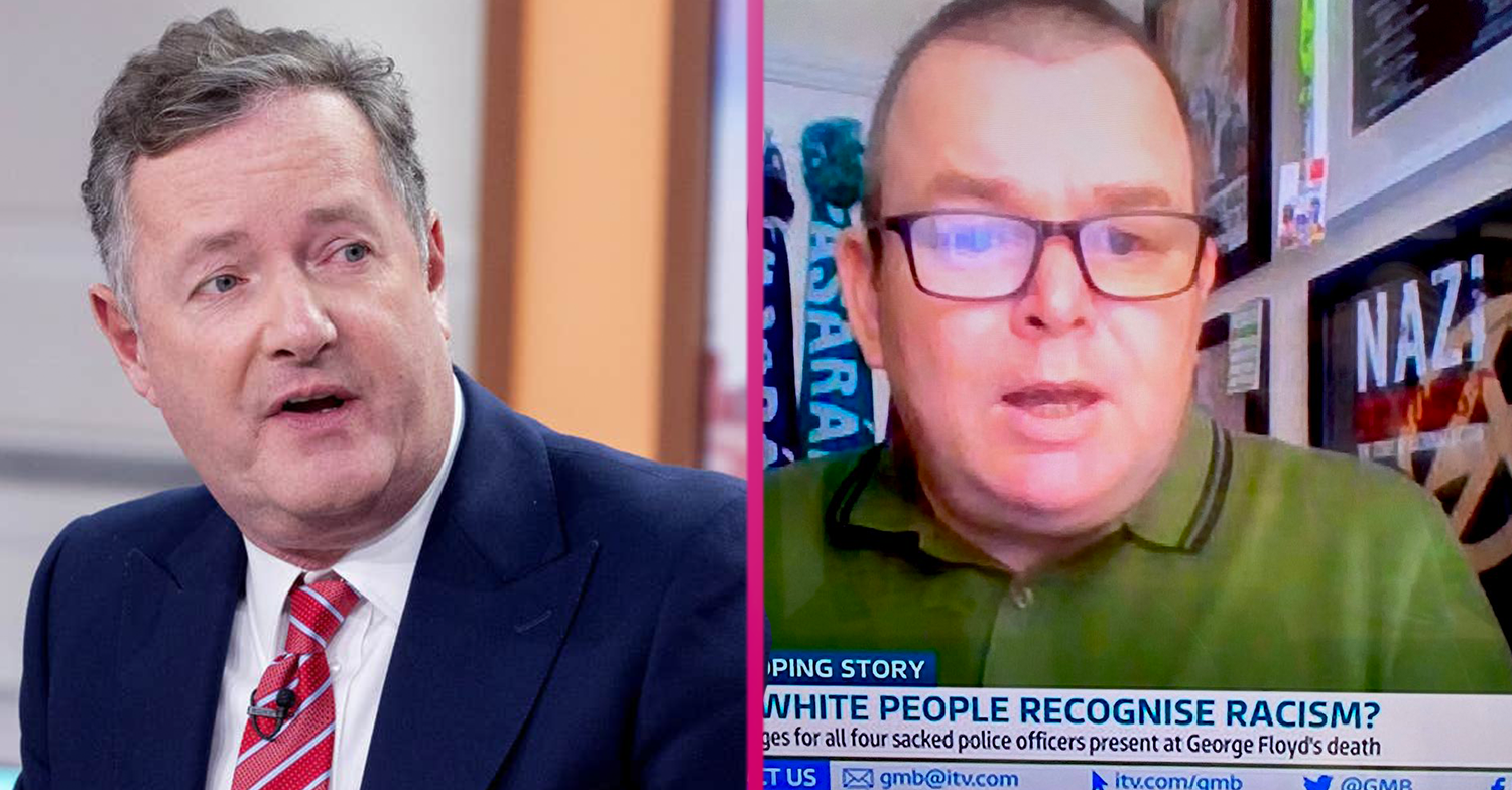 GMB fans spot framed 'Nazi poster' behind guest during live interview