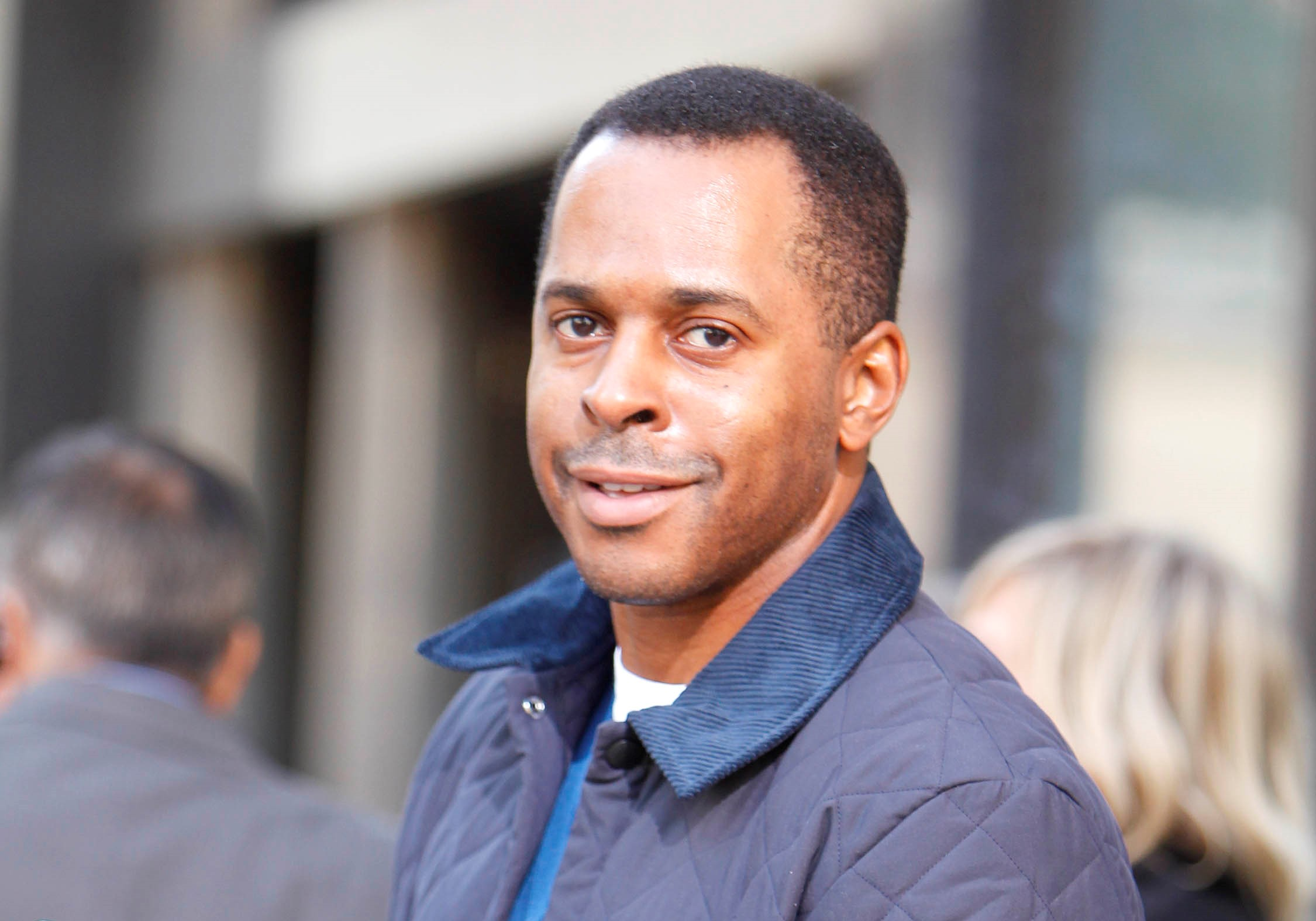 Andi Peters forced to present GMB's competition slot drenched by water