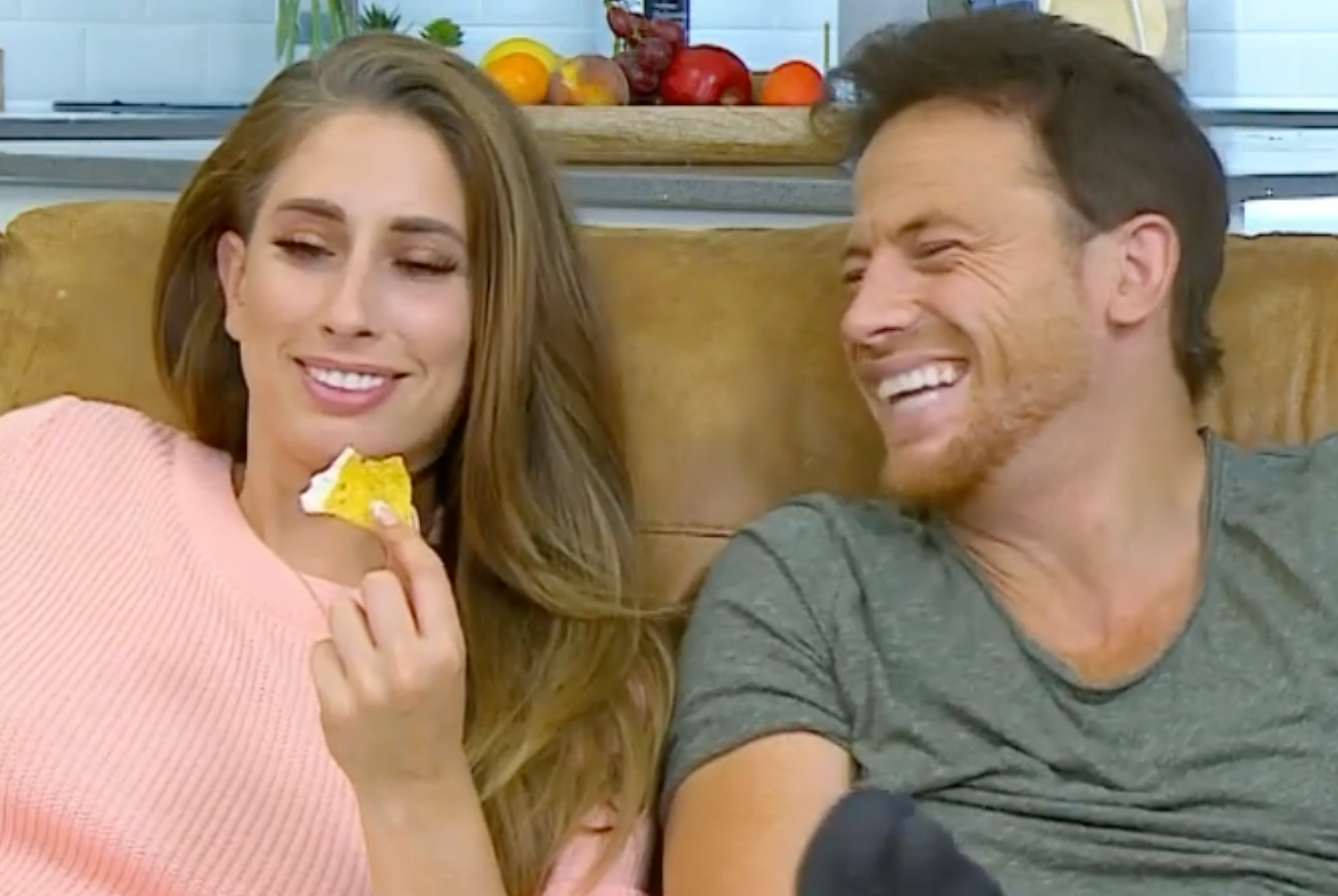 Stacey Solomon shushes boyfriend Joe Swash for Gogglebox sex confession