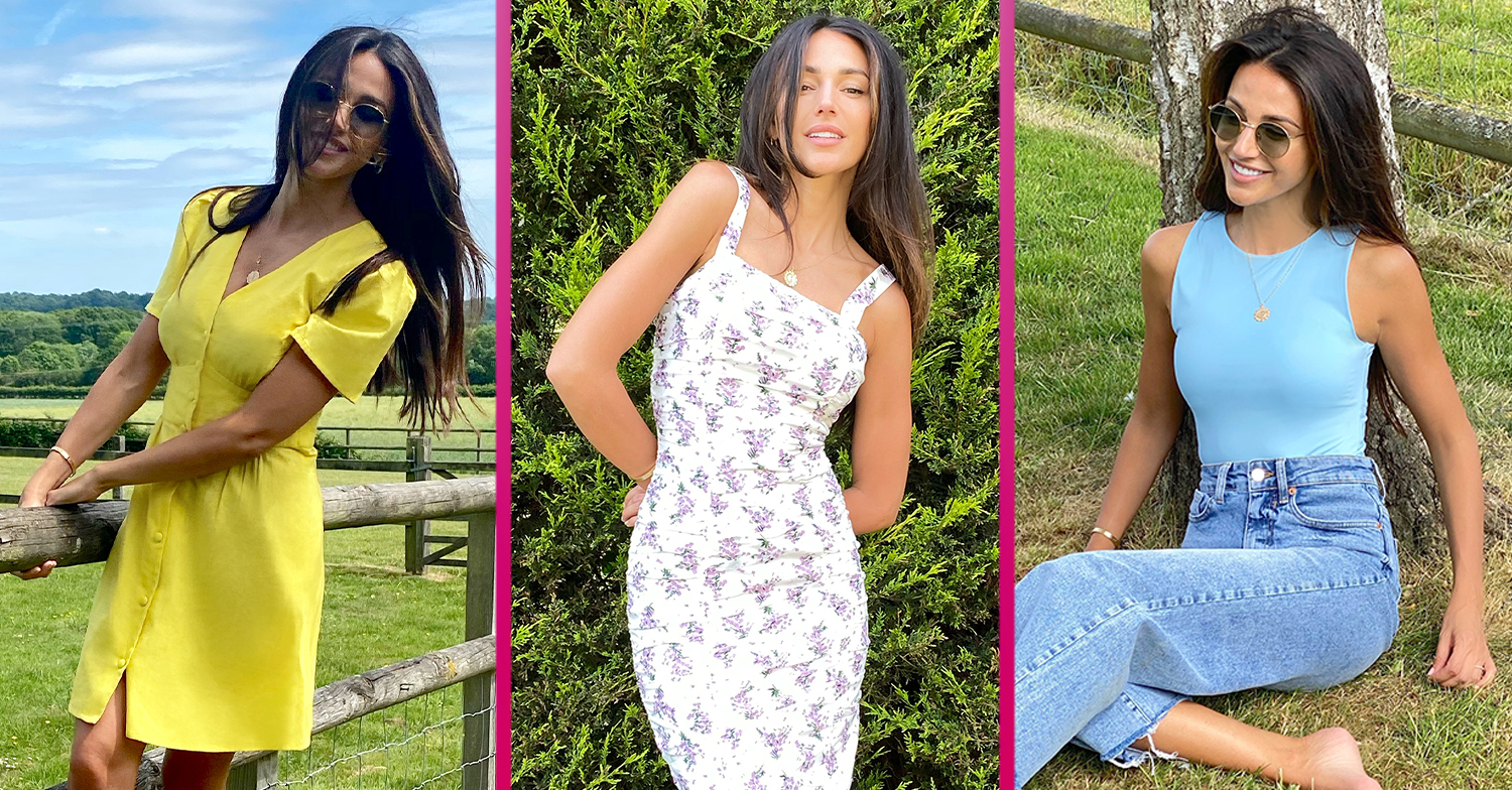 Michelle Keegan looks stunning as she models her new Very collection alongside her dog Pip