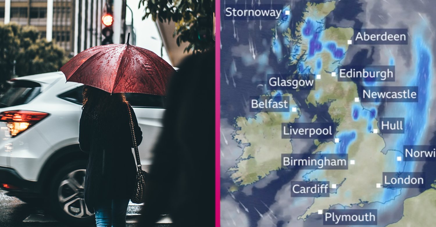 UK weather: Heavy rain predicted for Brits before highs of 25C next week