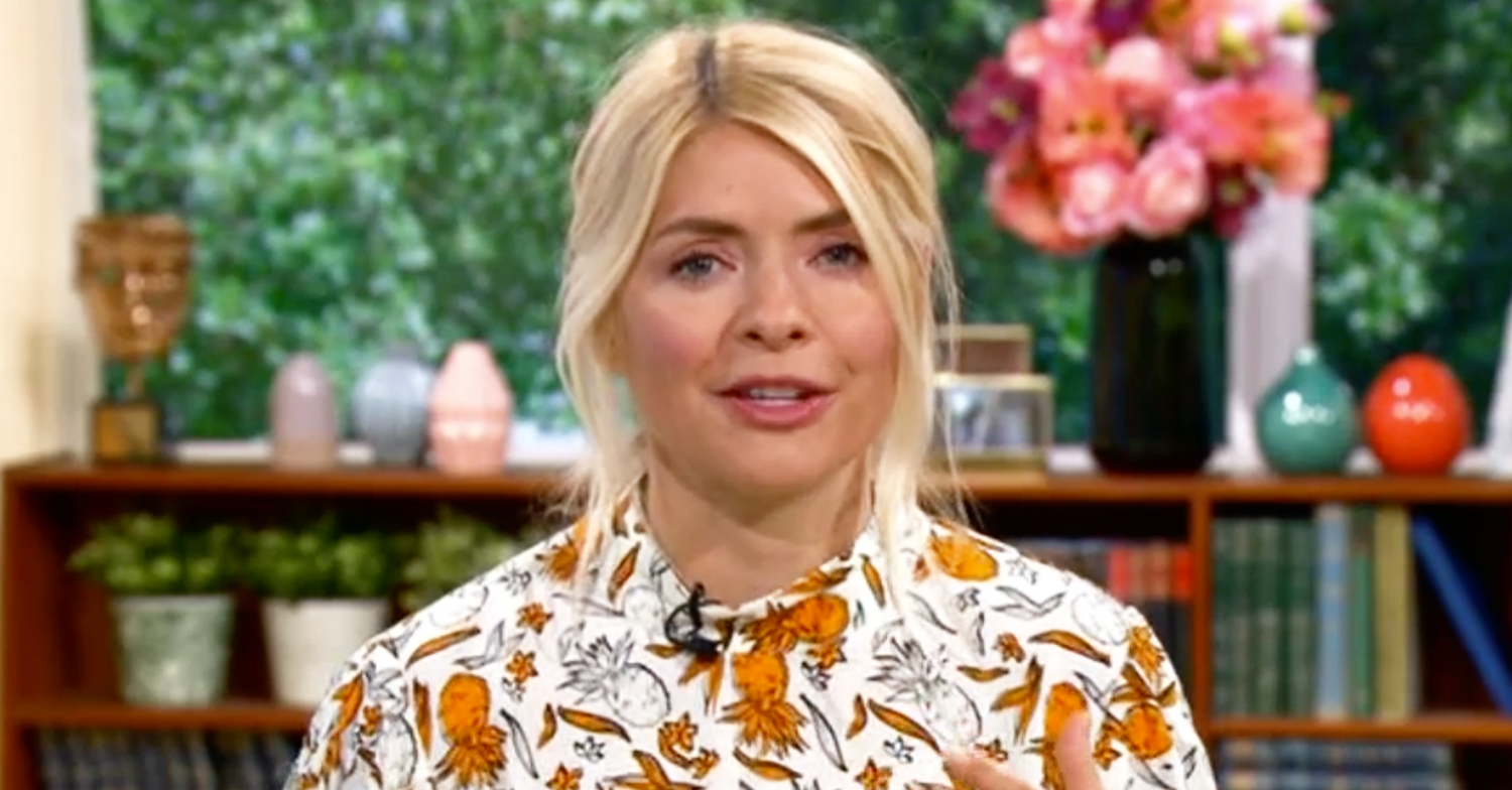 This Morning's Holly Willoughby looks summery in orange pineapple-print dress