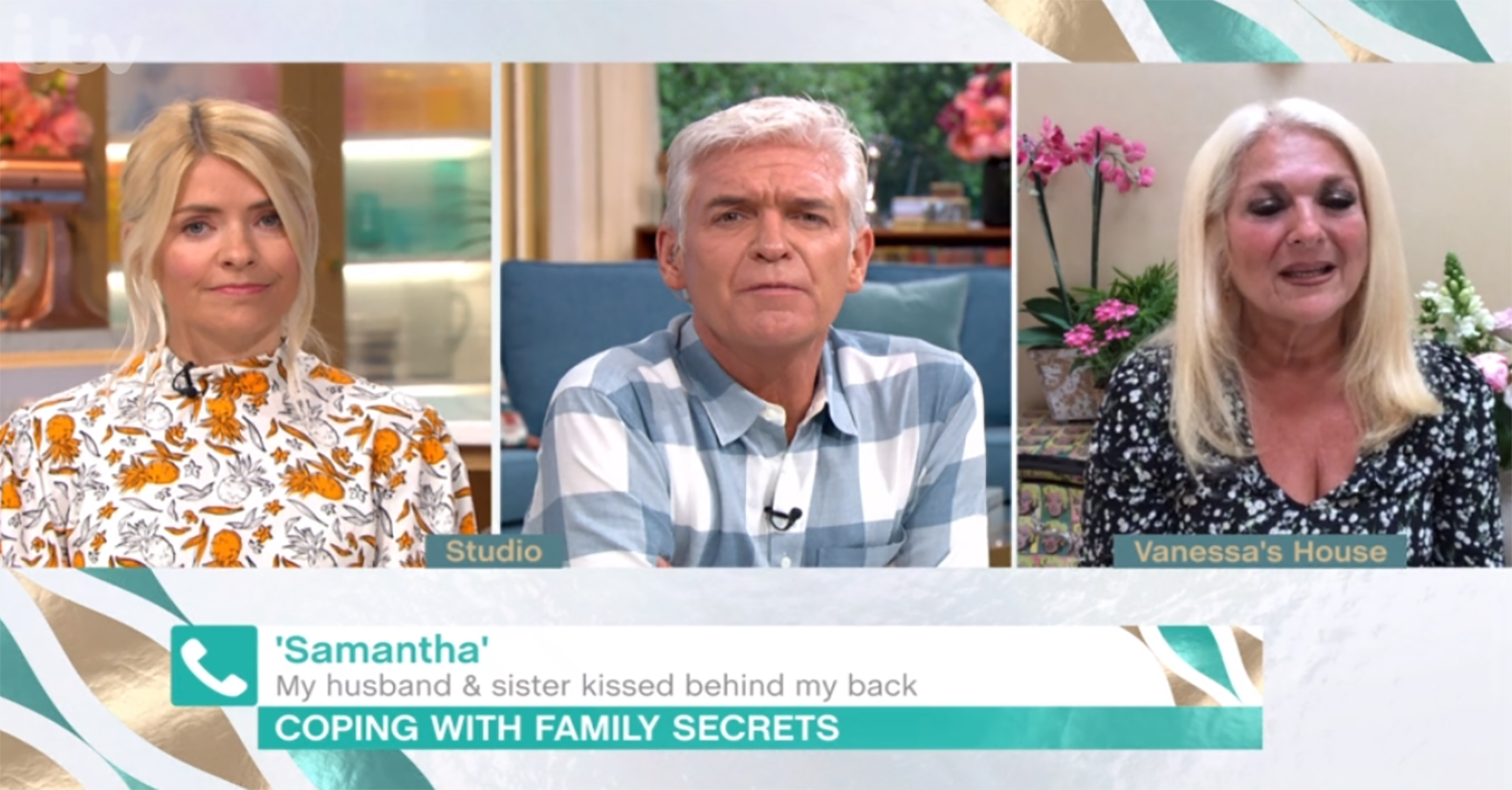 Holly Willoughby and Phillip Schofield criticise woman who kissed her sister's husband