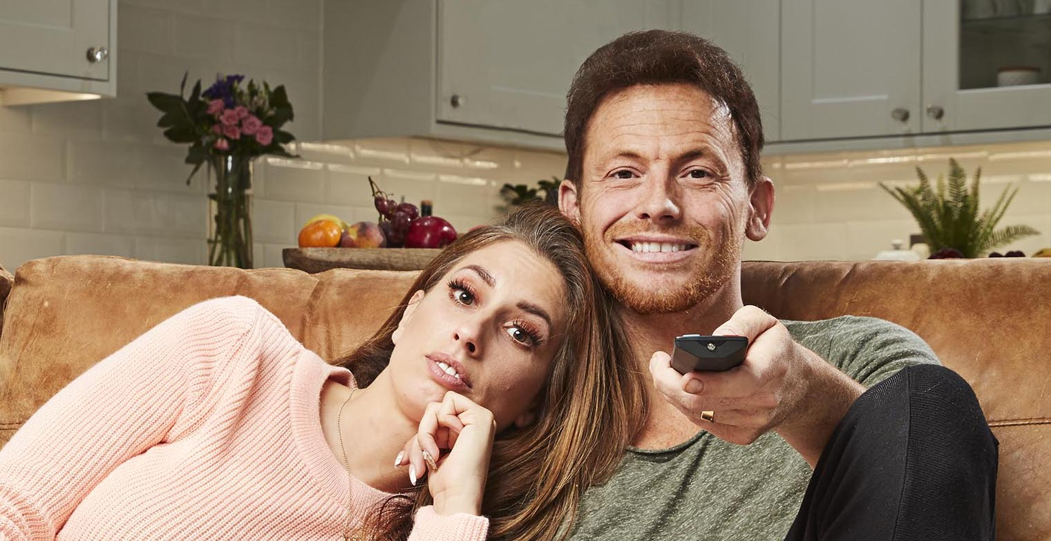Joe Swash compares Stacey Solomon to a dictator as they argue on Celebrity Gogglebox