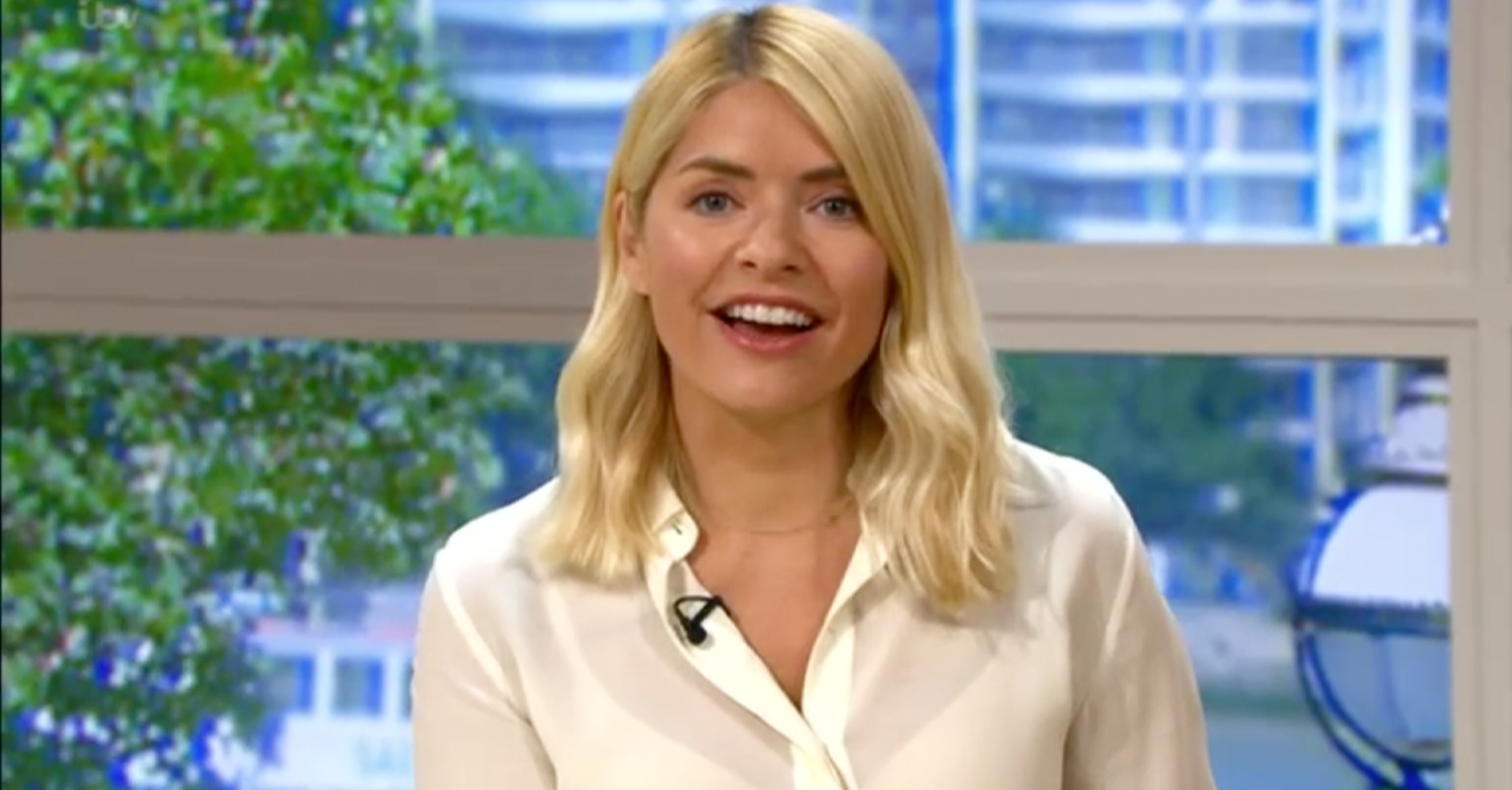 Holly Willoughby looks stunning in sheer blouse as she hosts This Morning