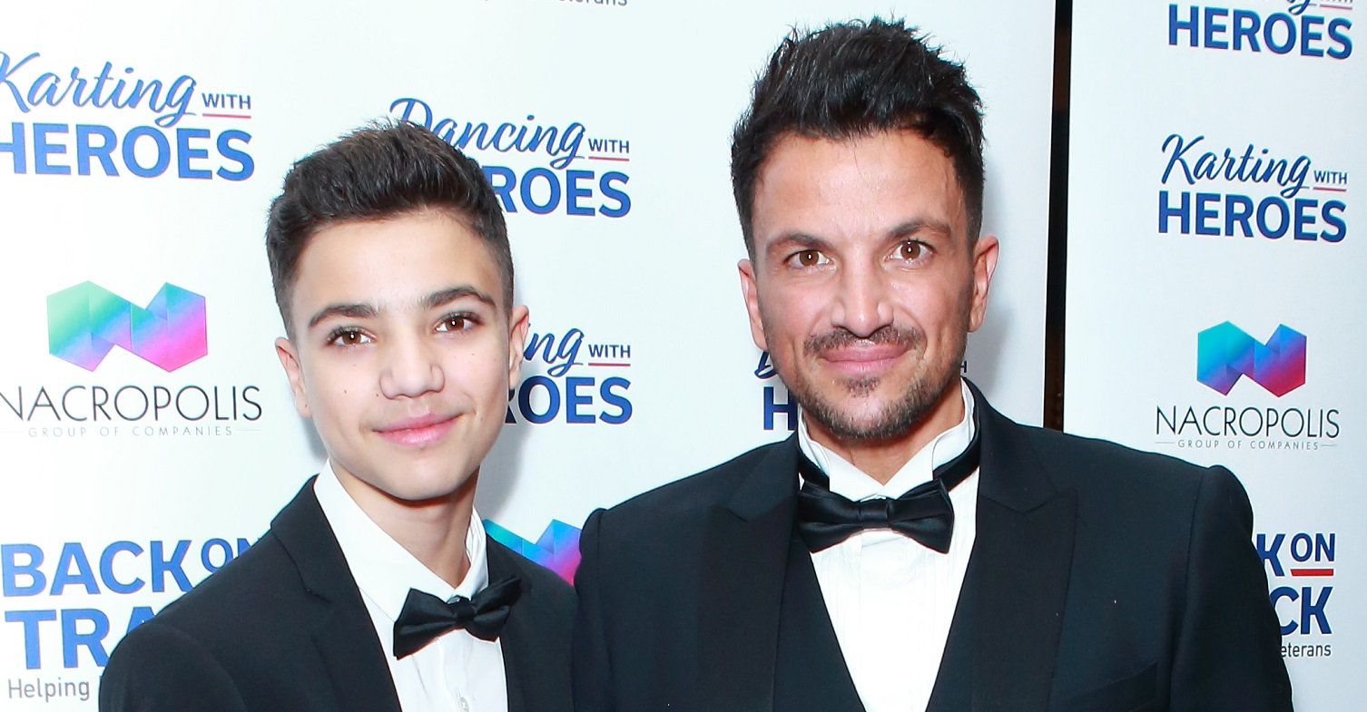 Peter Andre 'grossed out' as son Junior makes 'puberty' comment