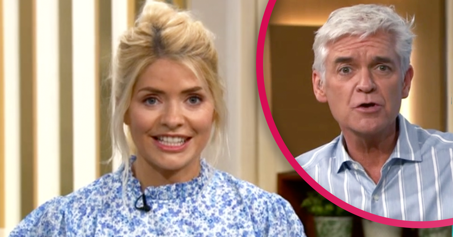 This Morning's Holly Willoughby and Phillip Schofield twin in pale blue