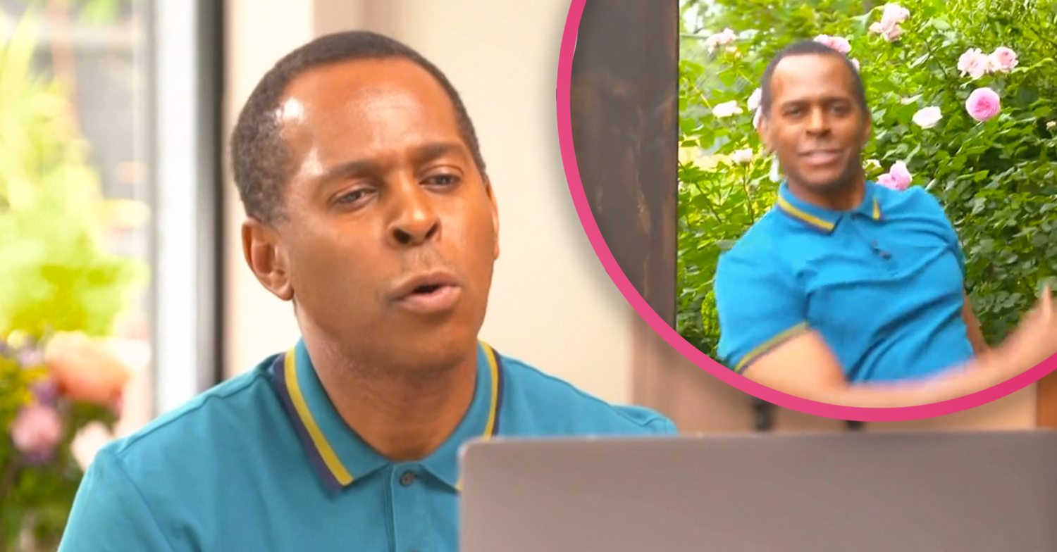 Red-faced Andi Peters falls over live on GMB before embarrassing exchange with competition winner