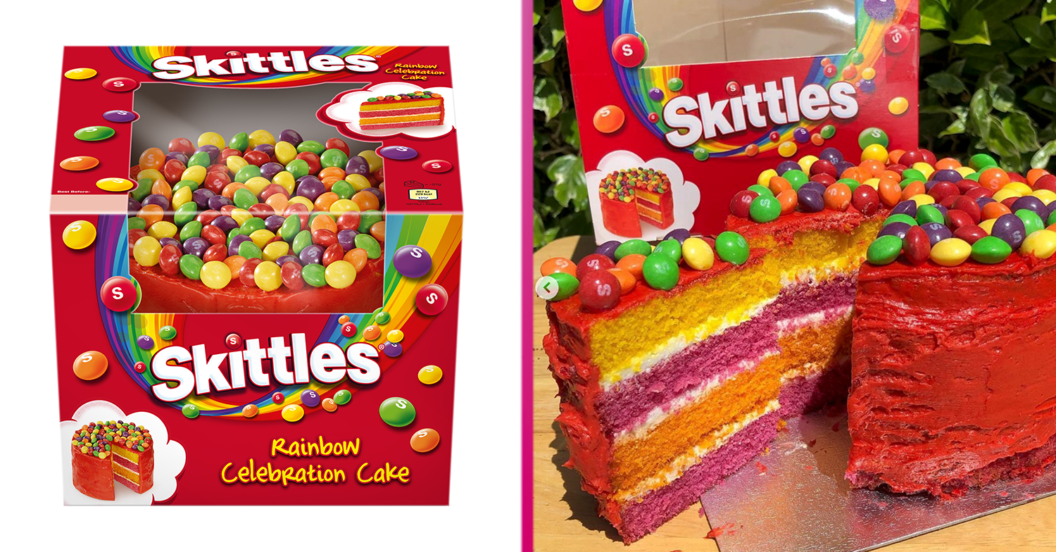 Mars launches huge new Skittles Rainbow Celebration Cake