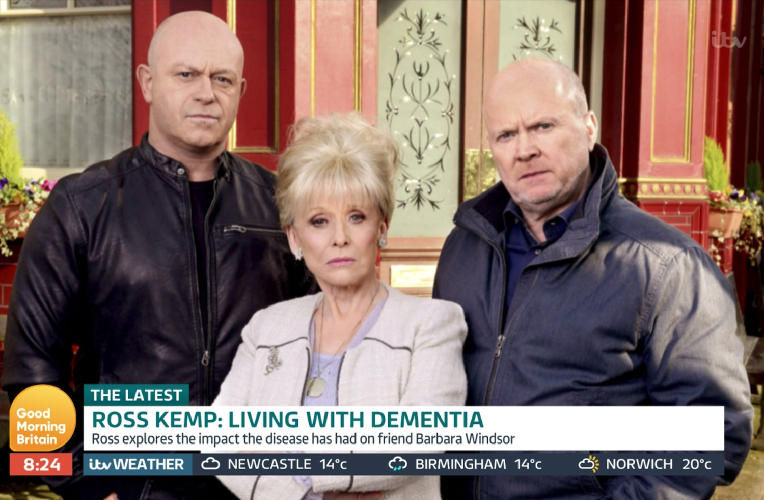 Ross Kemp Barbara Windsor Steve McFadden