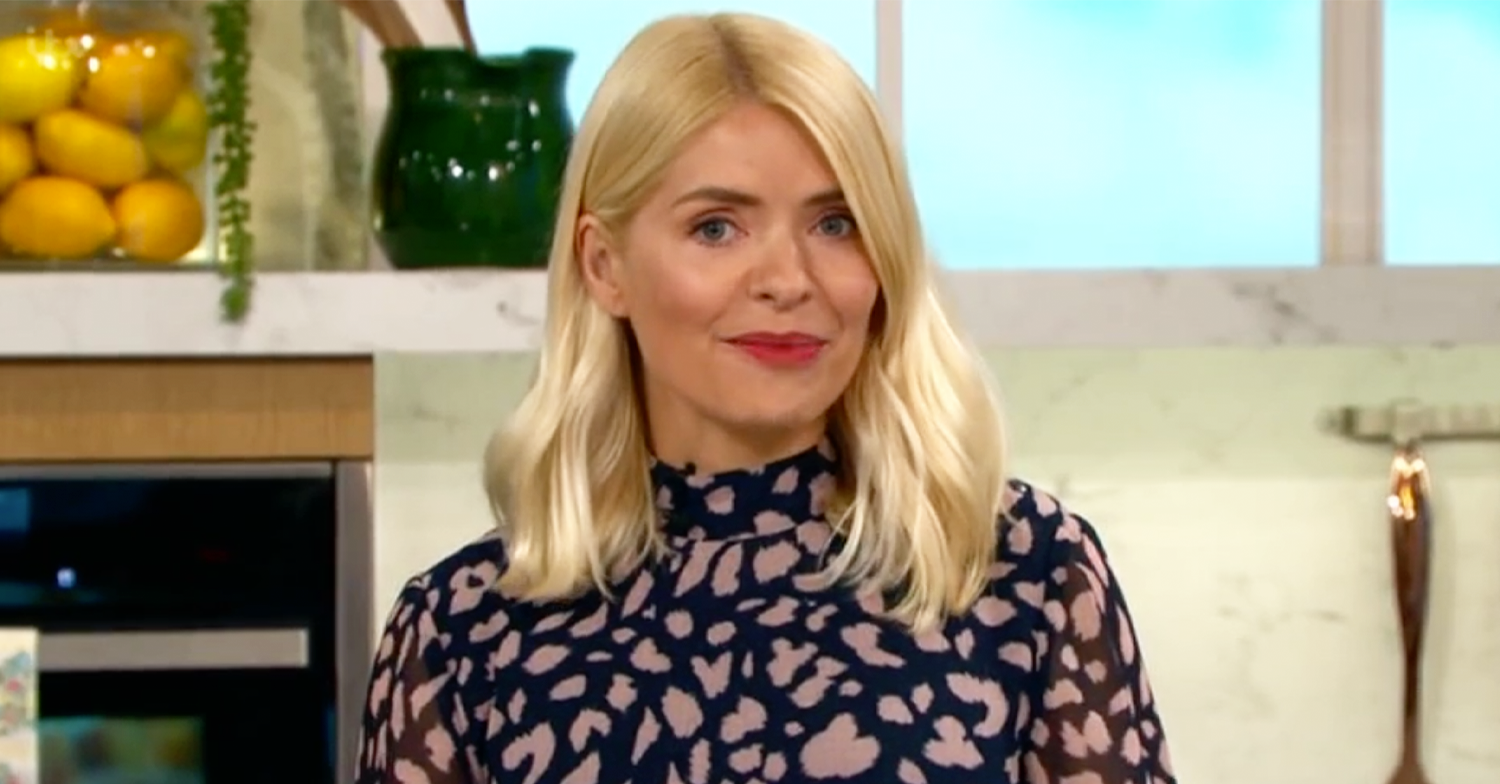 This Morning's Holly Willoughby brings out her wild side in gorgeous cheetah-print dress