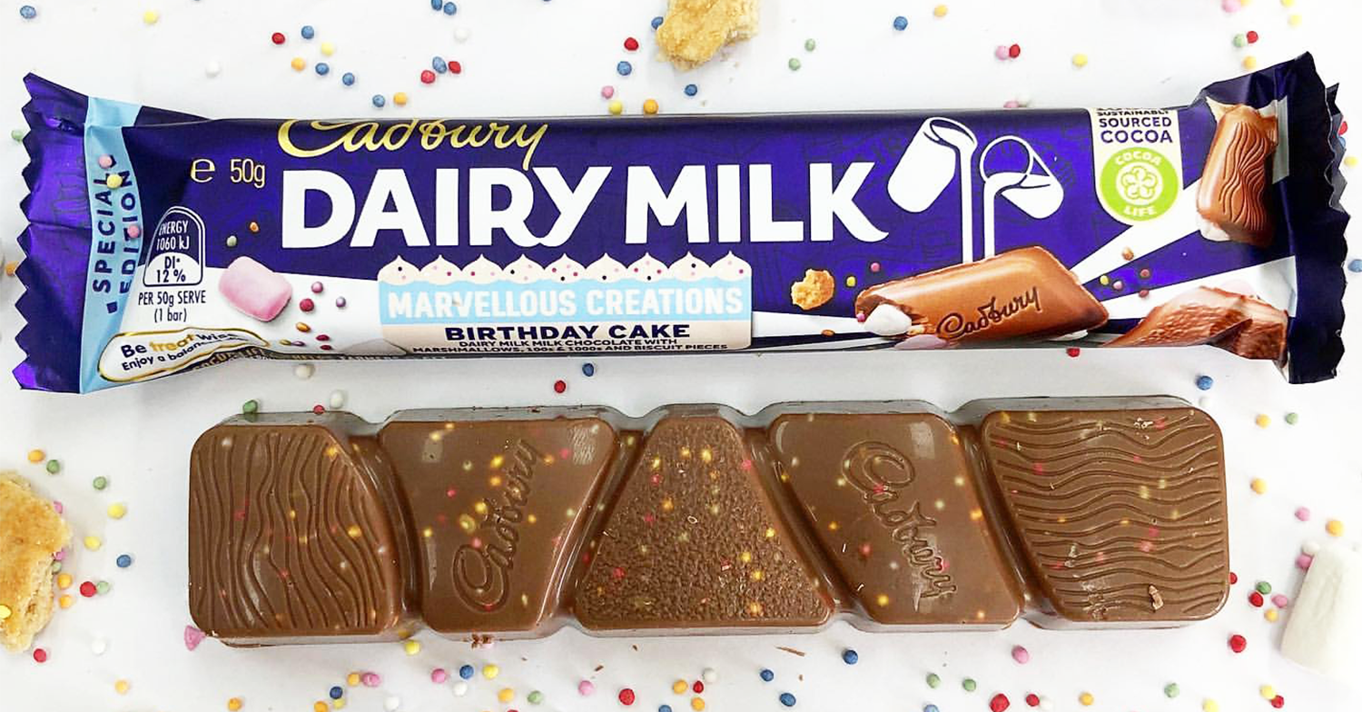 Birthday Cake flavour Cadbury Dairy Milk exists and you can buy it in the UK
