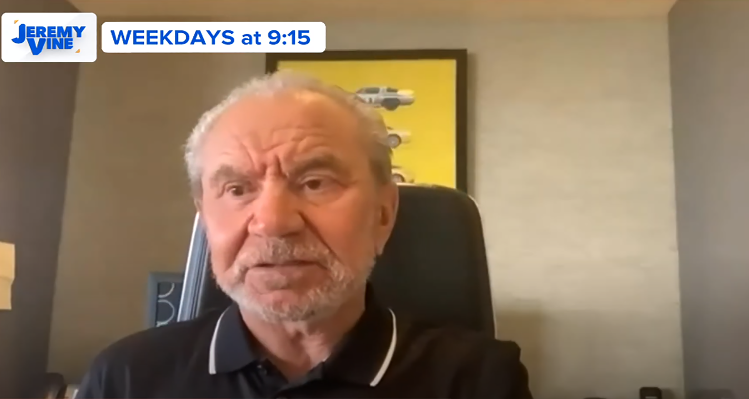 Lord Sugar sparks outrage as he says UK should lift lockdown because 'nobody he knows has died'
