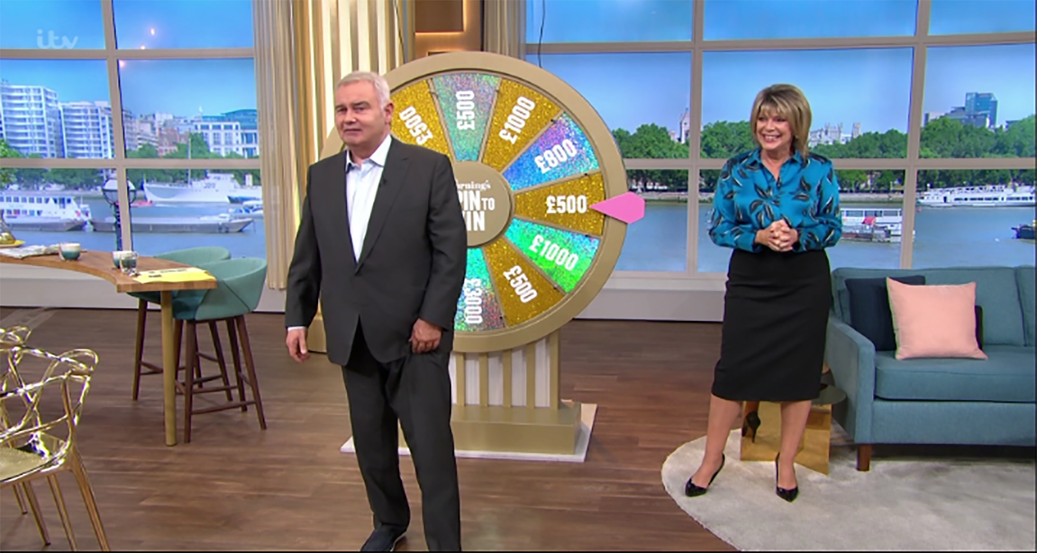 Eamonn Holmes jokes he'll 'cancel' This Morning viewer's Spin To Win prize after Phillip Schofield blunder