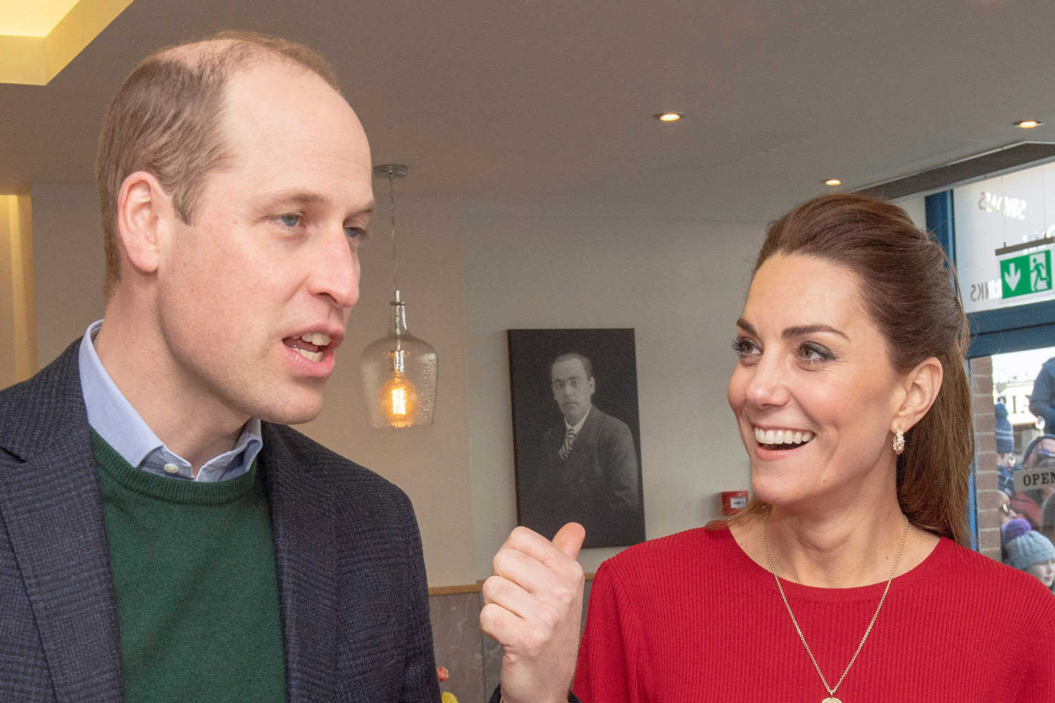 Prince William and Kate resume royal duties as they visit shop workers