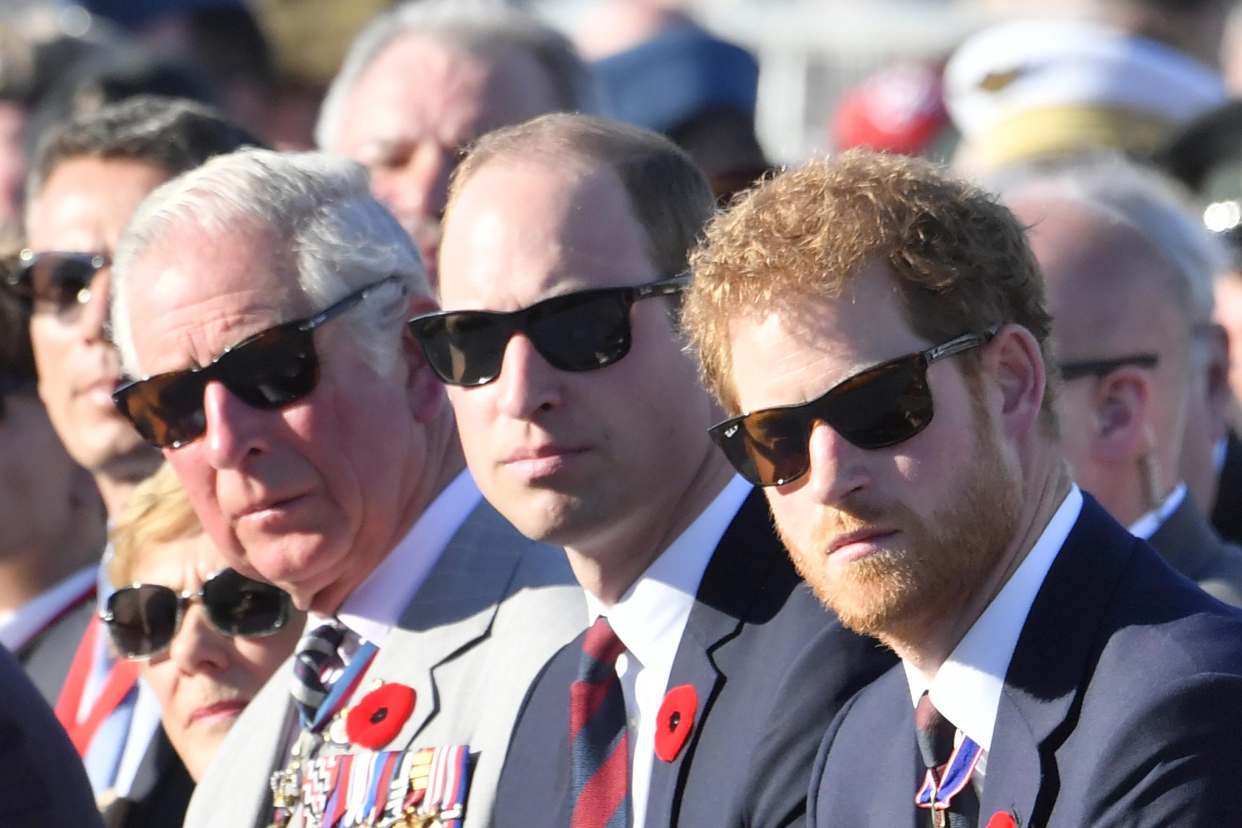 Prince Charles, Prince William and Prince Harry