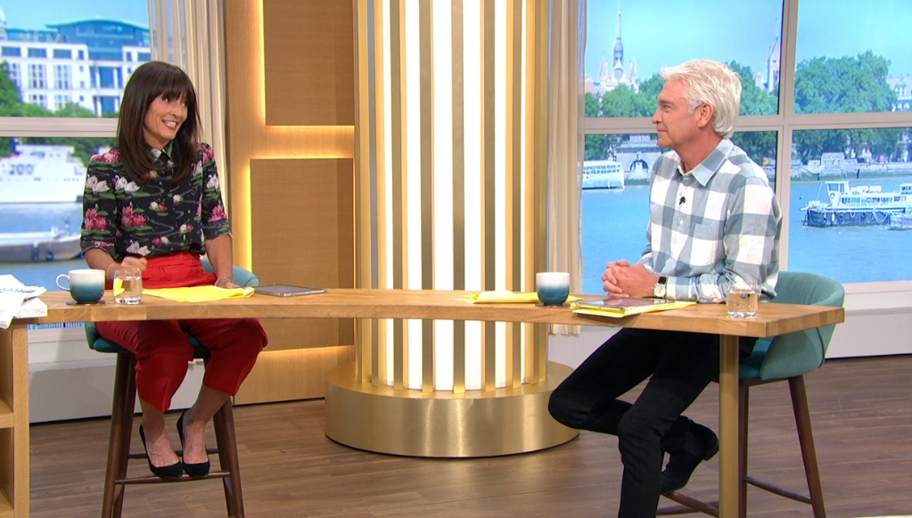 Davina McCall and Phil on This Morning