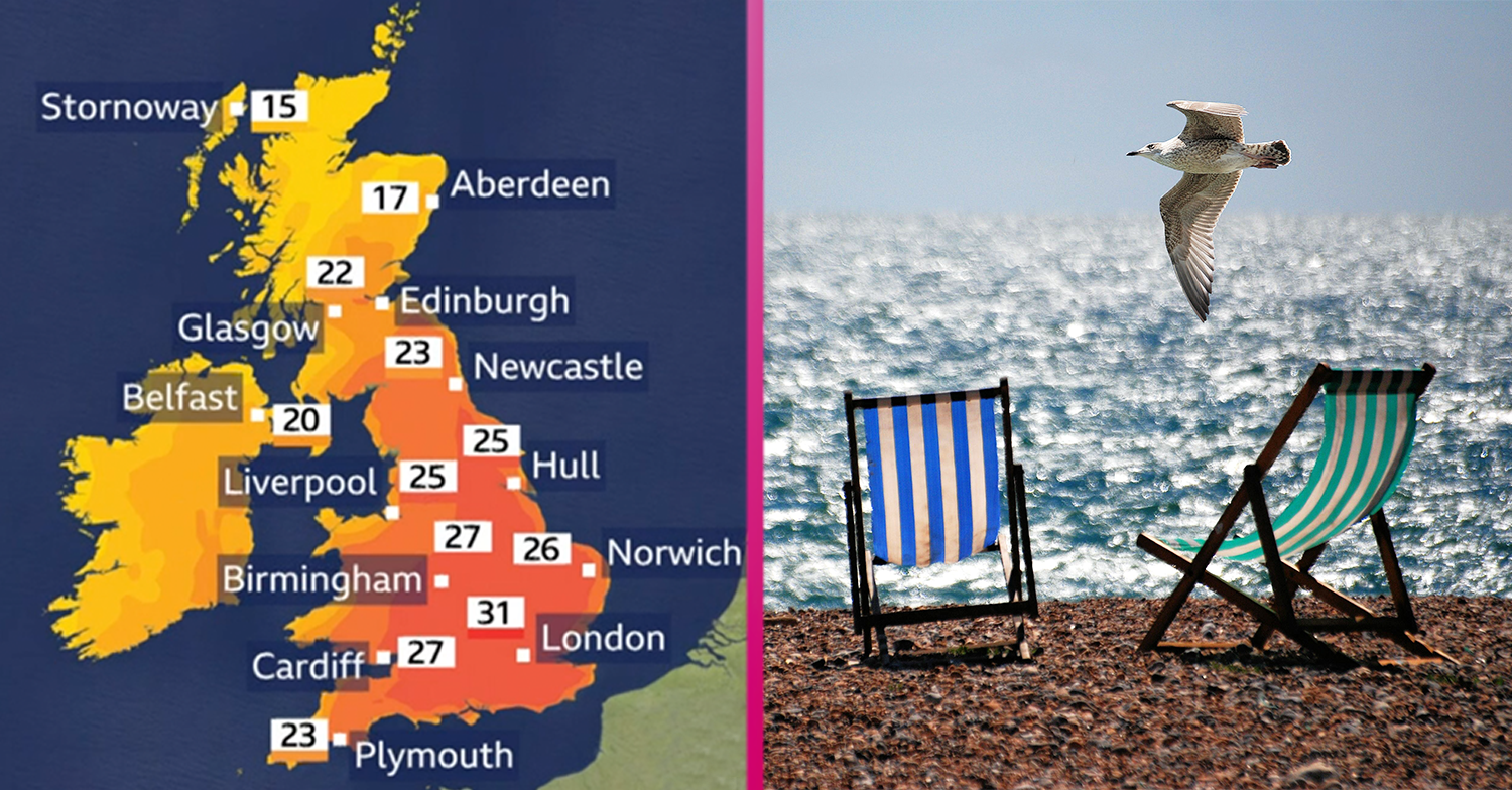 Temperatures to hit 34C this week as Brits get ready to enjoy the warmest weather of the year so far