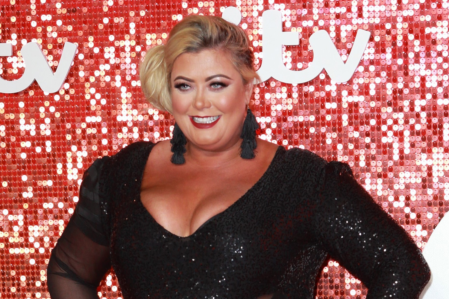 Gemma Collins launches bright pink masks with her face on them