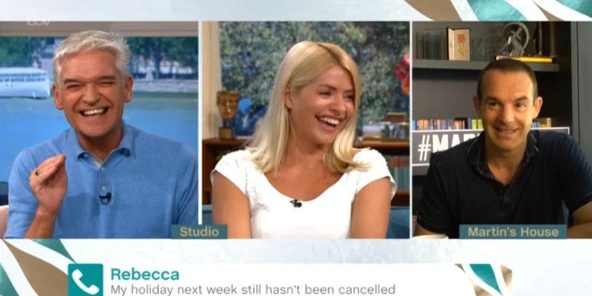 This Morning Phil Holly Martin hysterics ITV