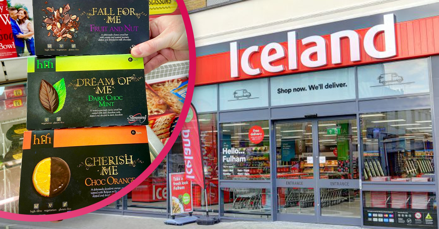 Slimming World Hifi cereal bars are now available at Iceland for a limited time