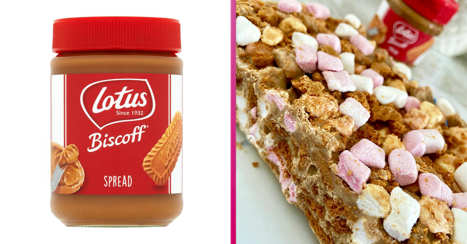 You can now have Biscoff Rocky Road slabs delivered direct to your door