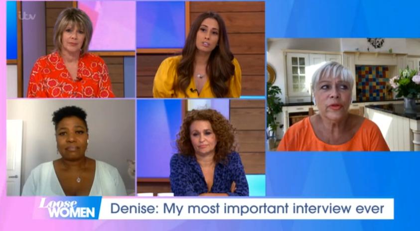 Loose Women Denise Nadia ITV