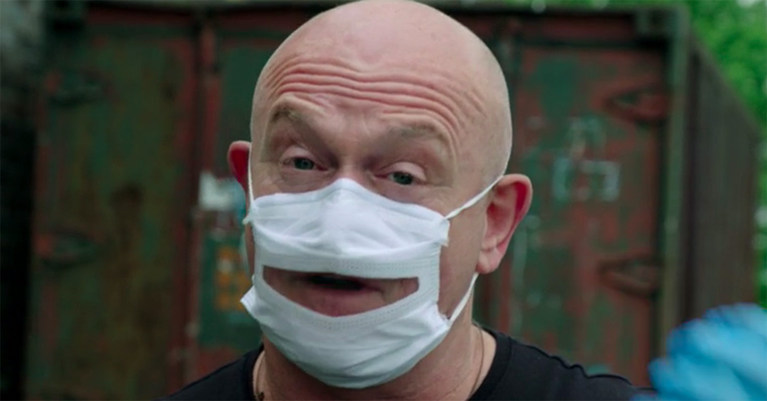 Ross Kemp explains why he wore 'unusual' face mask