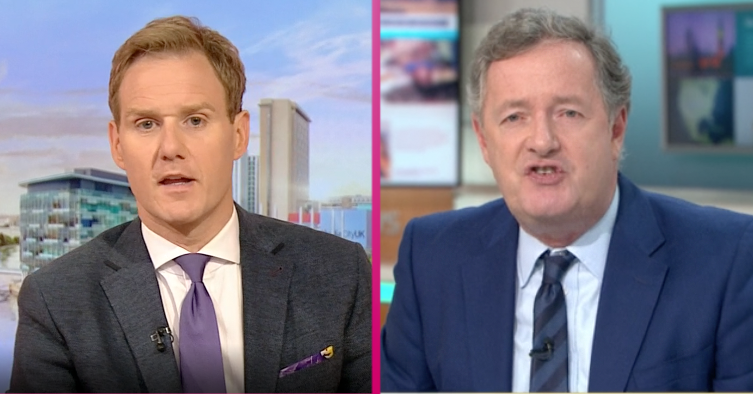 Piers Morgan lays into Dan Walker over Matt Hancock interview